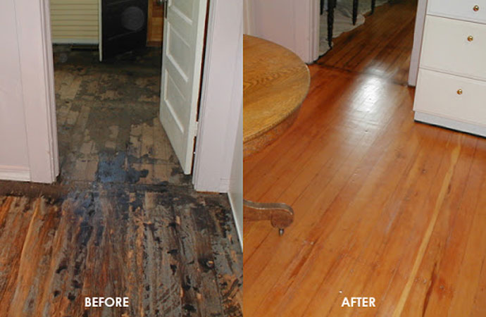Our hardwood floor restoration services include