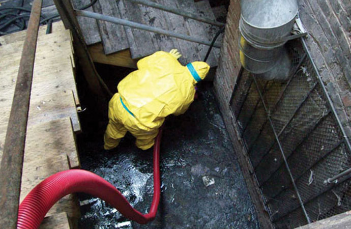 Sewage cleanup services from New England Restoration