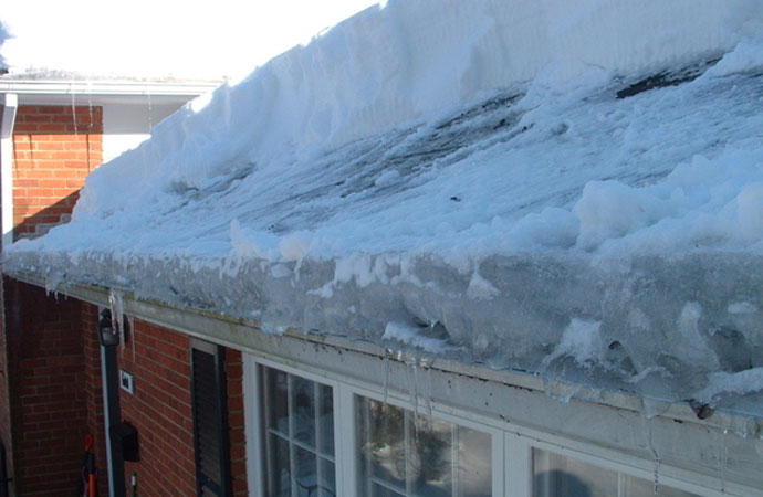 We can prevent damage & injury caused by an ice dam